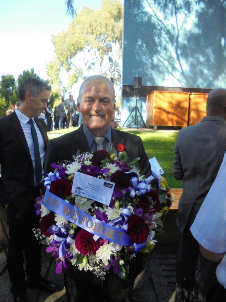 Attilio Borzillo at Shepparton Cenotaph