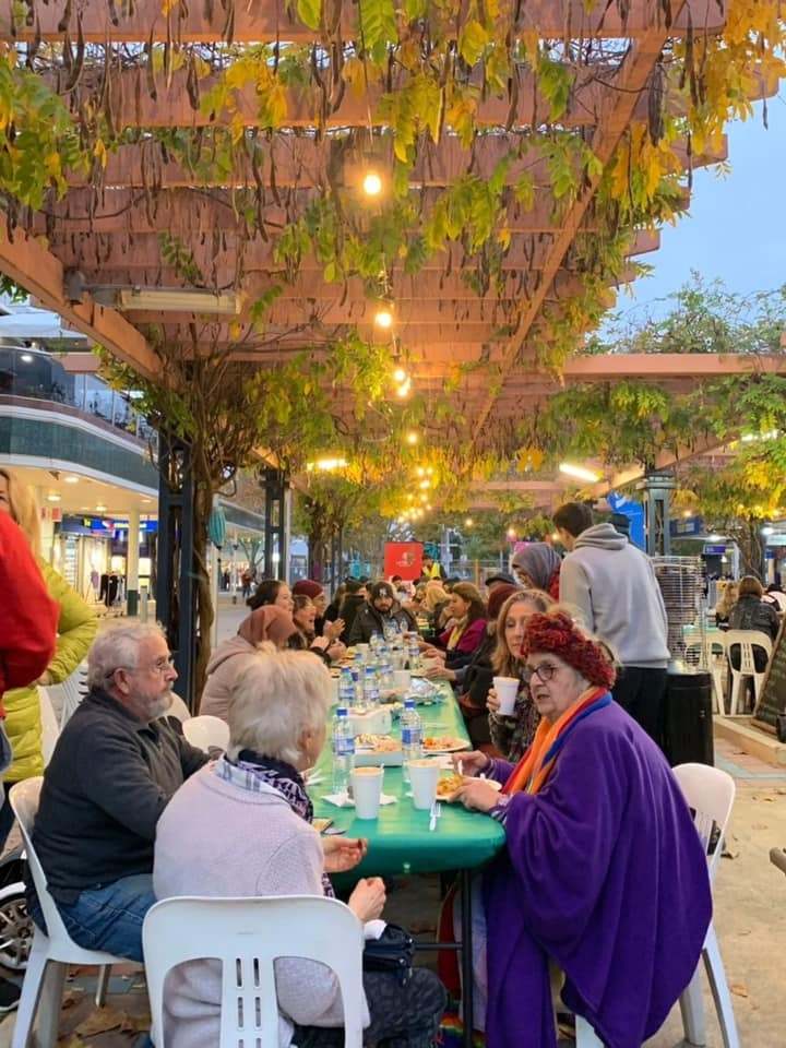 Table at the Backyard Iftar at Maude St Mall, 2019