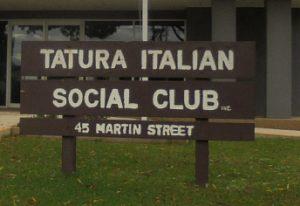 Tatura Italian Social Club signage