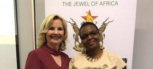 City of Greater Shepparton mayor Kim O'Keeffe with Thabisile Ndlovu