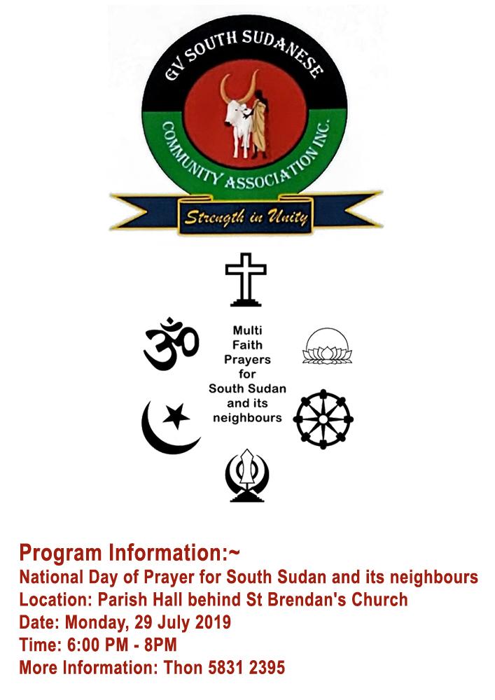 Multifaith Prayers for South Sudan