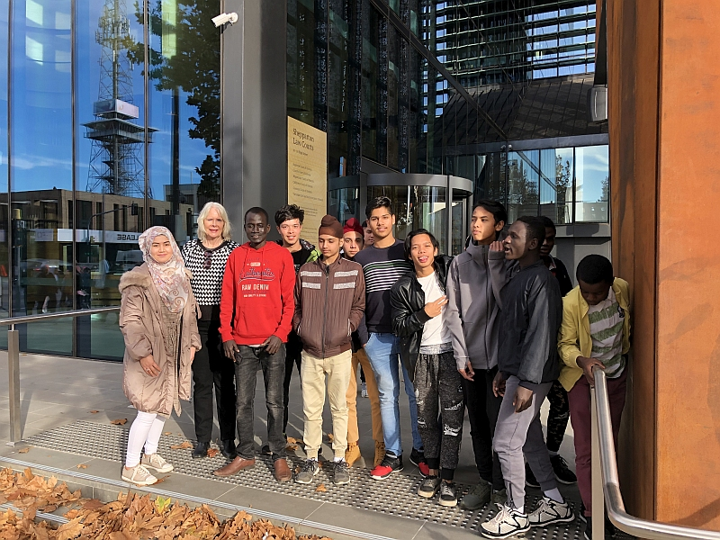 SELC Students outside Shepparton Law Courts