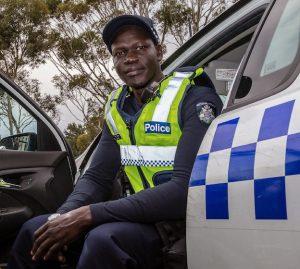 African Australian policeman