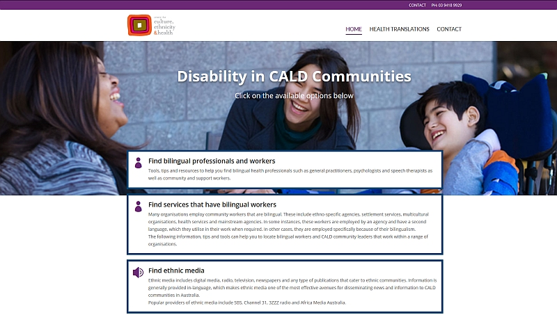 Centre for Ethnicity disability and health