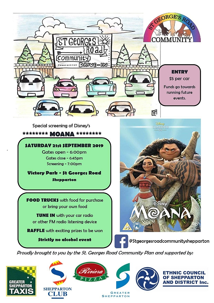 St Georges Road Community Drive-In - Moana - Flyer