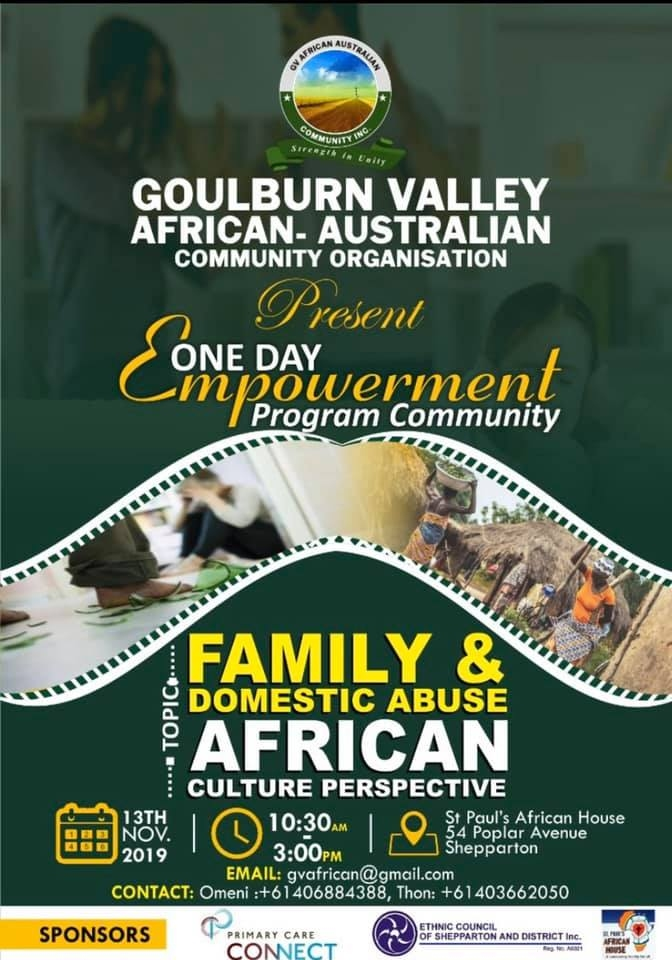 GV African Australian Association Empowerment Flyer