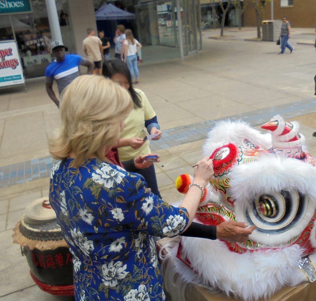 Ceremonial for new Chinese Lion