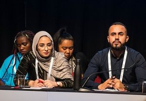 Mariam Mgoter and Ali Albattaat at FECCA 2019
