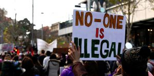 Protest against so-called illegals