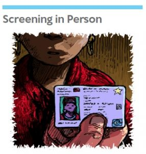 Screening in Person