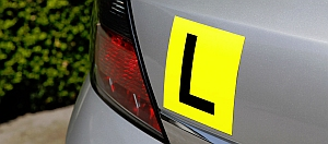 Learners Plate on a motor vehicle
