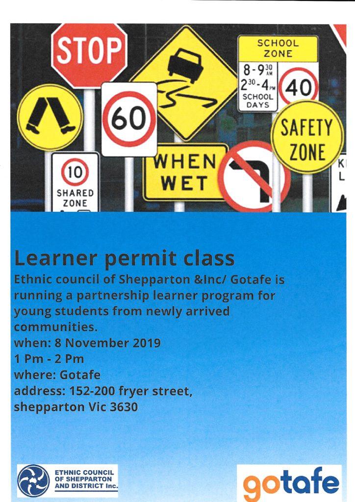 Learner Permit Class GOTAFE