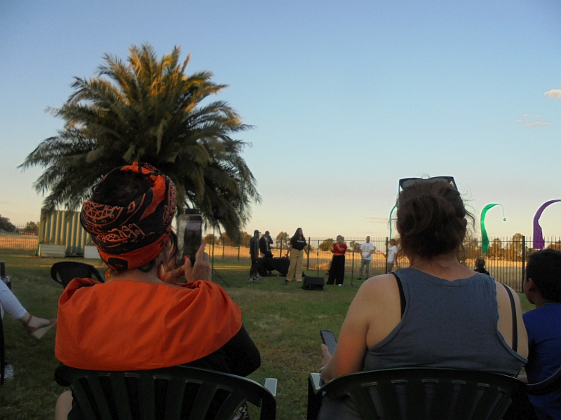 Watching Heard Instinct Collective at Out in the Open Festival Shepparton