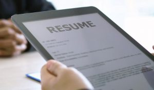Resume on Tablet