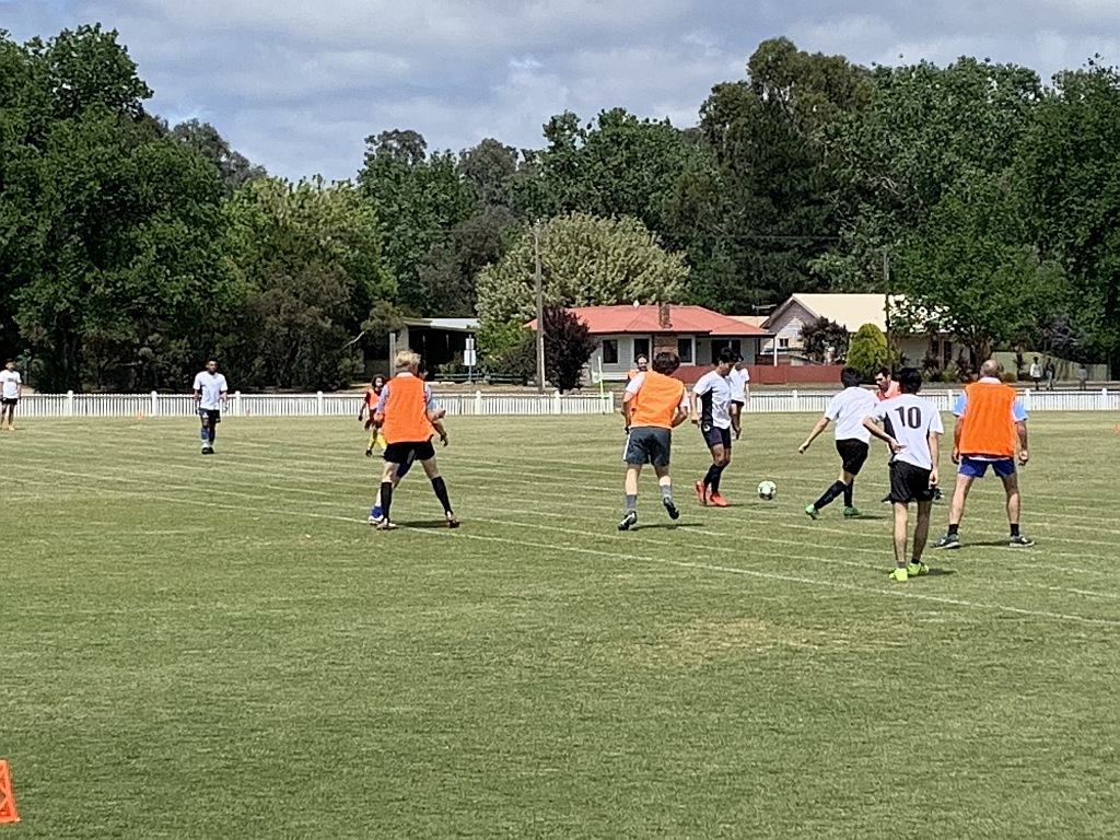 Soccer Friendly match at Mansfield