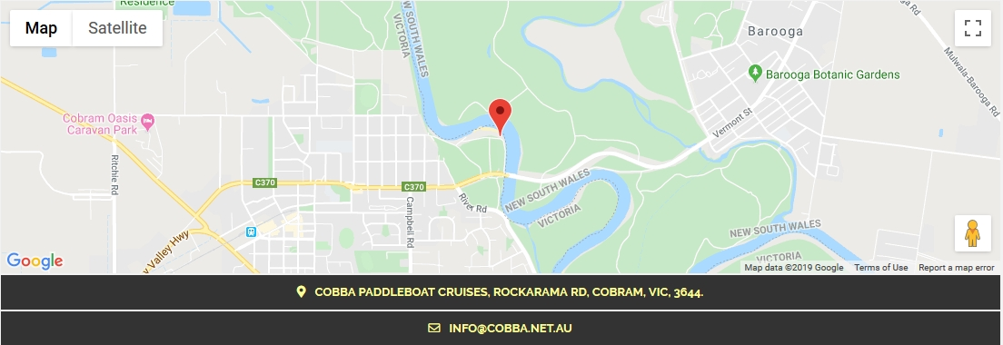 Map of Thompson Beach Cobram