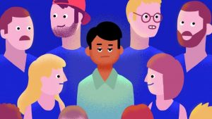Pub scene and racism