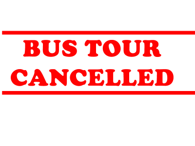 Cultural Bus Tour Cancelled
