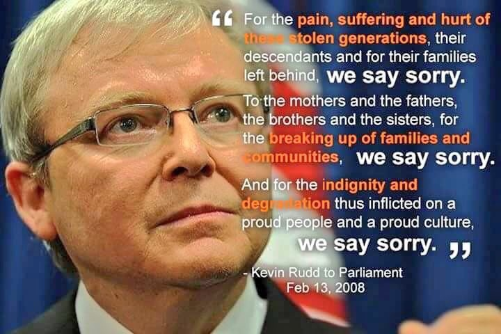 Prime Minister Rudd says Sorry