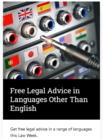 Free Legal Advice - Law week