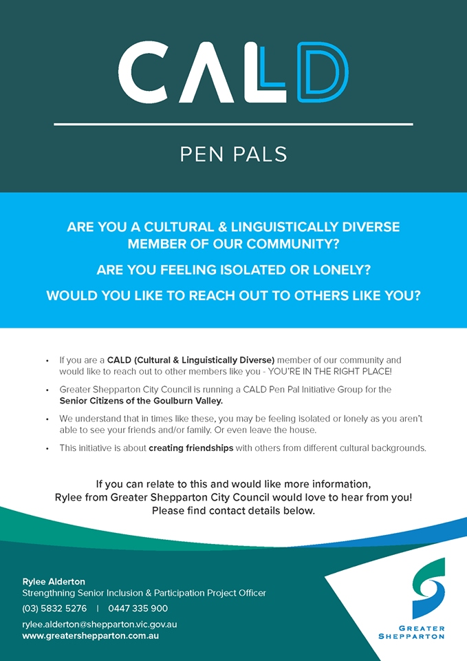Shepparton CALD Pen Pals Project