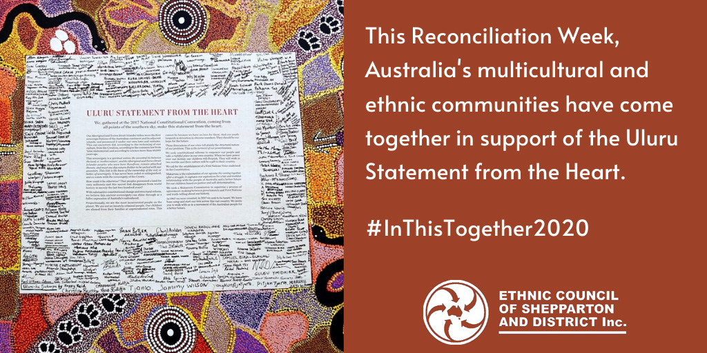 Ethnic Council supports Makarrata - Uluru statement from the heart