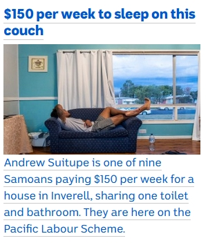 $150 to sleep on couch