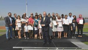 PM Scott Morrison at Citizenship Ceremony Canberra