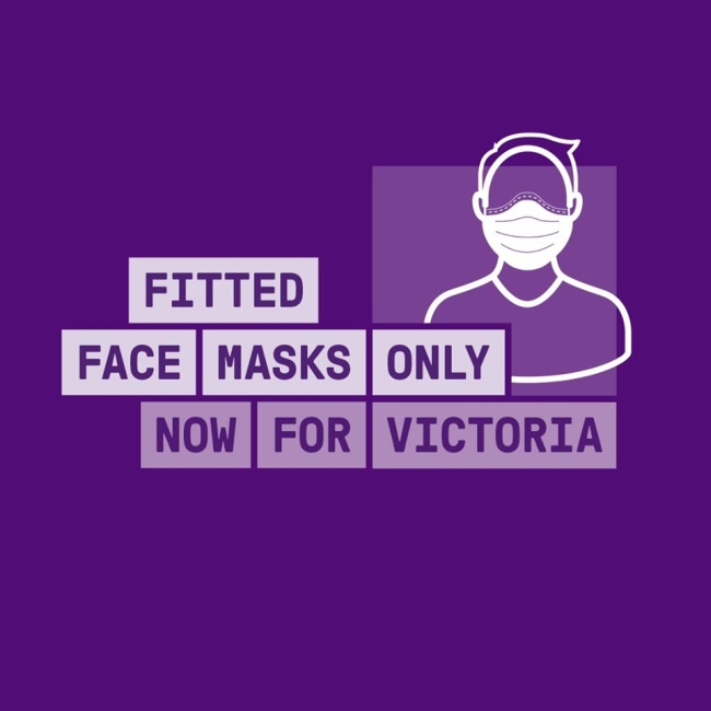 fitted masks for Victoria
