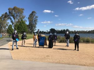 Covid 19 Support at Victoria Park Lake