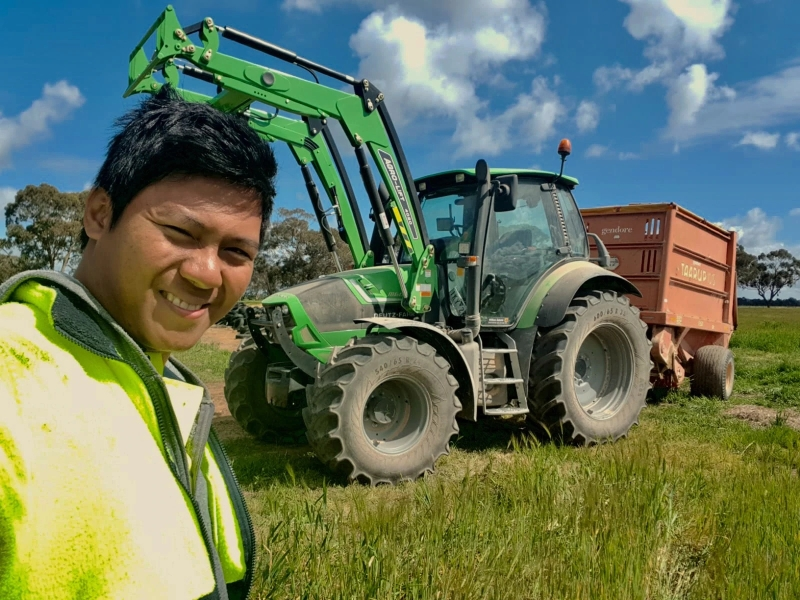 Christiano Dery Thomas on farm work