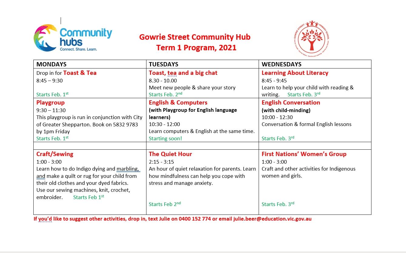 Gowrie Street Primary School Community Hub