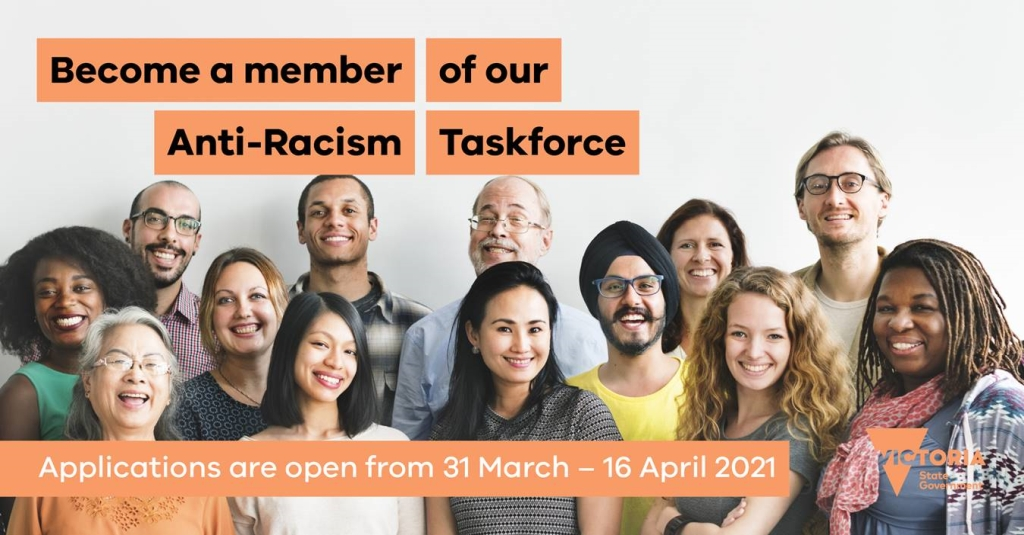 Join Victoria's New Anti-Racism Taskforce