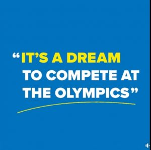 Its a dream to compete at the Olympics