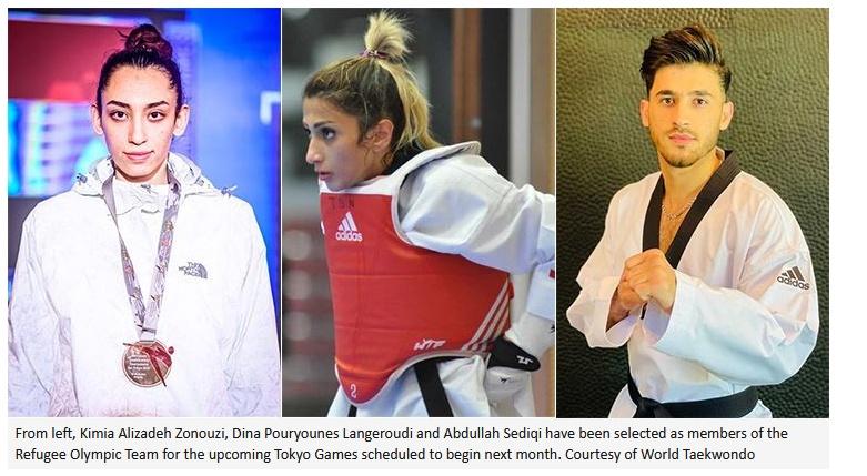 Taekqondo athletes - refugees