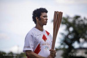 Abrehet Sibhatu Kidnemarim, from Eritrea - Refugee and Olympic Torch Bearer